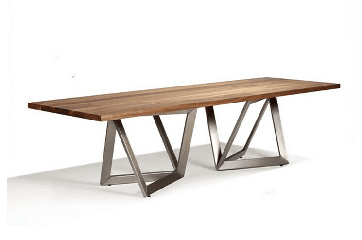 Holz esstisch stuhl mit edelstahl basis m bel esstisch for Esstisch holz mit edelstahl