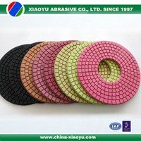 XIAOYU 9 inch diamond polishing pad for granite marble terrazzo