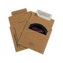 Cheap Kraft paper cardboard CD DVD wallets