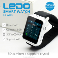 Ledo 3G watch K8 4.4 Android smart watch for fashion men and women
