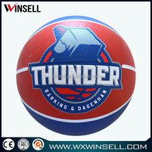 New design durable good bounce rubber basketball