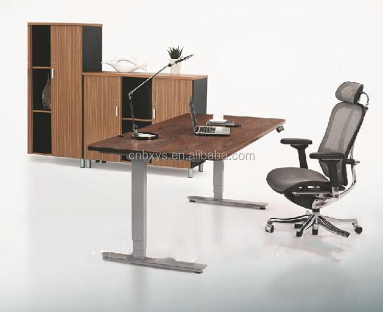 Ergonomique hauteur ajuster bureau s 39 asseoir se lever for Meuble bureau jambes