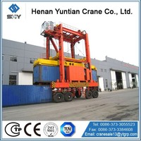 CE, ISO, SGS Certificated Straddle Carrier Container Crane
