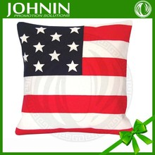 personalized pillow cases customized 100 polyester flag cushion cover