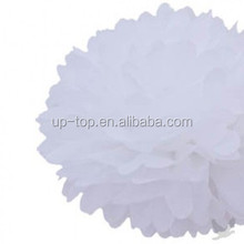 Popular white large paper pom poms flower crafts
