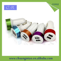 2015 wholesale 5V 2.1A double usb car charger for iPad