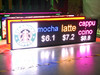 led programmable taxi window sign/led moving message display/outdoor digital sign