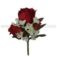 rosa ramillete de la boda