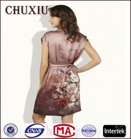Chuxiu silk digital printing customized elegant silk satin silk nightgowns