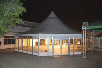 luxurious 100 person gazebo glass walling octagon event tent