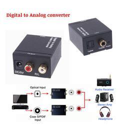 Digital to Analog Audio Converter Optical Coaxial RCA Toslink Digital Audio to L/R Analog Audio converter adapter