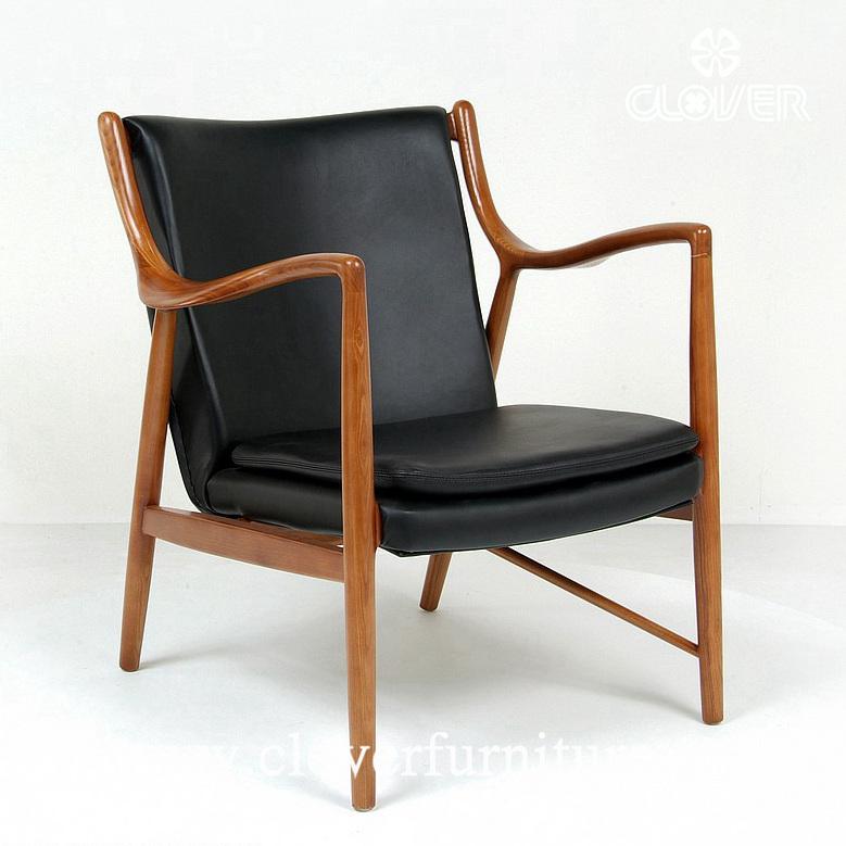Famous replica 45 lounge chair designed by Finn Juhl