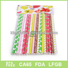 colorful paper Drinking straw