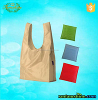 reusable polyester foldable 210d shopping bag