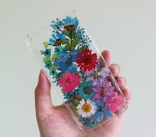 Dry pressed natural real flower phone cover case, flower case, flower case for iphone 6