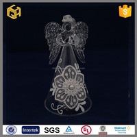 2015 New products small glass angel figurines wedding decoration centerpieces
