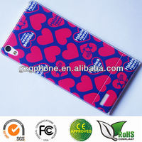 Hard pc case for huawei P6 case with colorful printing