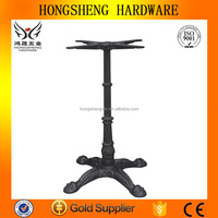 Dining room table parts table with one leg wrought iron table base
