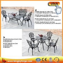 Affordable indoor and outdoor four people cast aluminum restaurant furniture