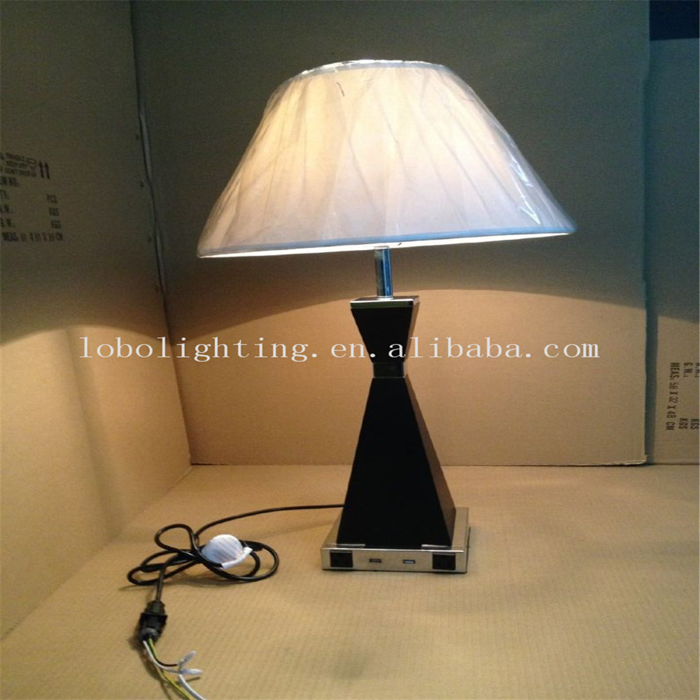 lamps with usb power outlets buy hotel table lamps product on. Black Bedroom Furniture Sets. Home Design Ideas