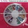 2015 hot sell fashionable nail art accessory/triangle stone wholesale