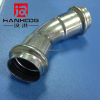 Galvanized Malleable cast iron pipe fittings 45 degree elbow