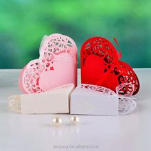 New Heart Laser Cut Favor Box Paper gift box for Wedding favors