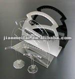 acrylic round shaped earrings display rack