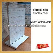 supermarket metal double side basketball shelf