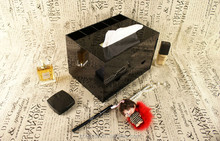 Acrylic Luxury pumping tissue box function cosmetic storage box make-up pen jewelry box combined style storage cabinet