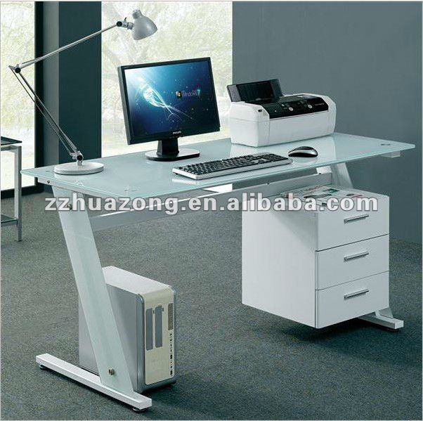 schwarz wei glas computertisch pc tisch b ro zu hause und. Black Bedroom Furniture Sets. Home Design Ideas
