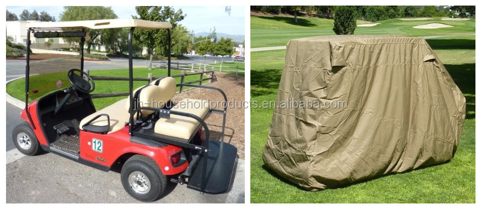"4 Passengers golf cart with rain cover (with 2 seater roof up to 58"") 108Lx48Wx66"""