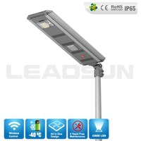 30W LED solar motion sensor security light with wireless control