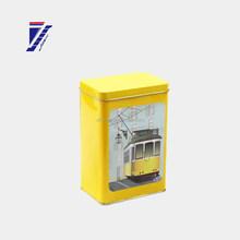 high quality brand gift rectangular shape tin box new design for tea/candy