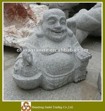 hand carved stone buddha carving