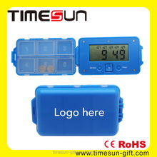 Food-grade Plastic Pill Box with Alarm and Timer