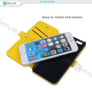 Shiny color hot selling ultra thin wallet style for apple iphone 6s magnetic case