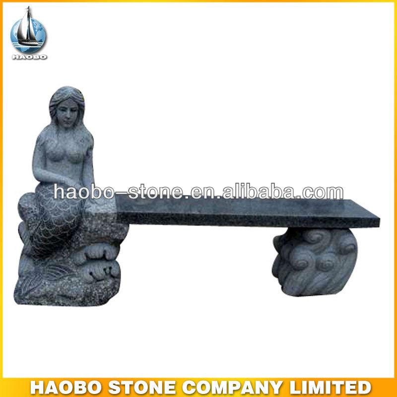 Mermaid carving stone garden bench buy sculpture