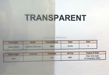 Premium Transparent Self Adhesive Rear Projection Film