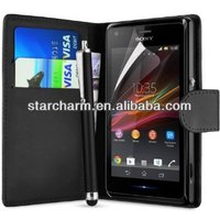Wallet Flip Case for Sony Xperia Z1S
