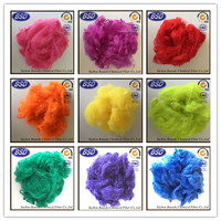 colored Solid style polyester staple fiber, fiber siliconed