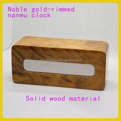 New development production of led clock wood & wooden clock