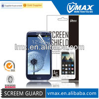 Color lcd screen protector film for Samsung galaxy s3 oem/odm (Anti-Fingerprint)
