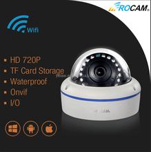 Easy Installation P2P 1.0 Megapixel Bullet IP Camera, 720P Outdoor Wateproof IP Camera with Wifi, POE