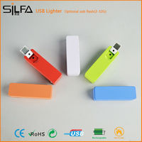 Cool rechargeable metal usb lighter birthday gifts for guests