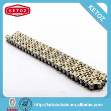 Golden bling fantastic durable motorcycle chain manufactuer KETOZ