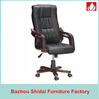 arabic majlis wood footrest leather office boss chair SD-8201