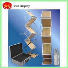 Acrylic or wooden trays collapsible brochure holders