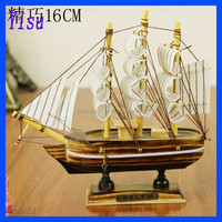 2014 Fashion crafts 16cm wooden small model sailboat
