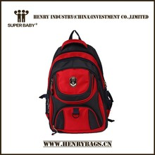 moda 2014 rojo de la rosa plegable mochila de nylon para el ocio